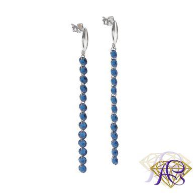 Kolczyki  z niebieskich kryształków  BS1605