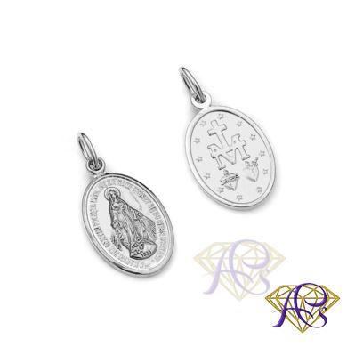 Srebrny Medalik Matki Boskiej Cudownej MD1535