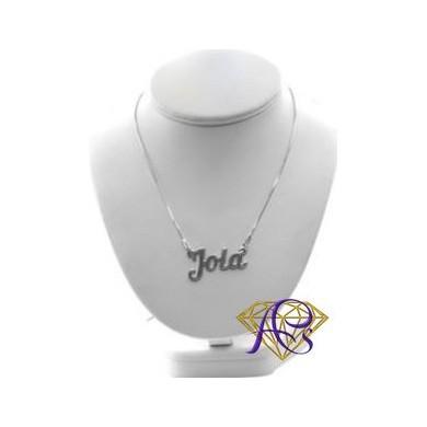 Naszyjnik srebrny rodowany Jola