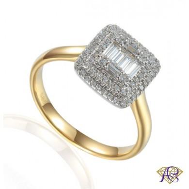 Pierścionek z diamentami Au 585 R59279